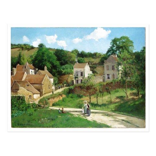 Camille Pissarro - Hermitage Pontoise 1867 Oil Postcards