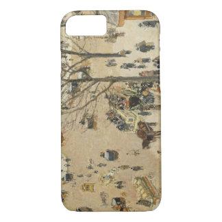 Camille Pissarro - La Place due Theatre Francais iPhone 7 Case