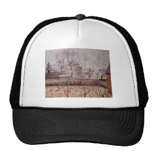 Camille Pissarro- Landscape, Frost and Fog, Eragny Trucker Hat