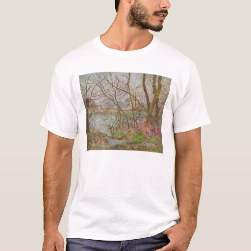 Camille Pissarro - Loggers Grey Pontoise 1878 T-Shirt