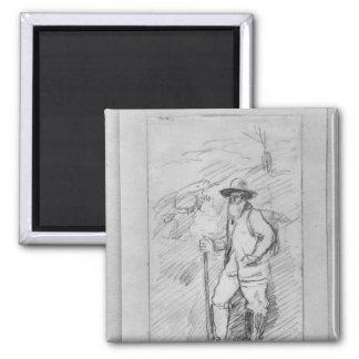 Camille Pissarro Square Magnet