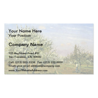 Camille Pissarro- Orchard in Blossom, Louveciennes Business Card Template