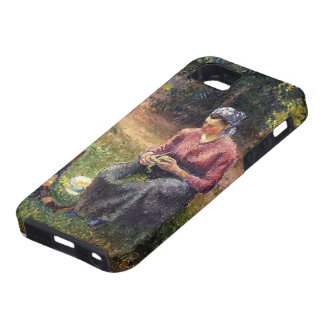 Camille Pissarro- Peasant Woman and Child, Eragny iPhone 5 Cover
