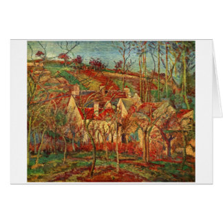 Camille Pissarro - Red Roofs 1877 Oil Canvas house Card