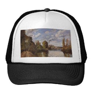 Camille Pissarro- Riverbanks in Pontoise Trucker Hat