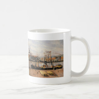 Camille Pissarro- Rouen Port Unloading Wood Mug