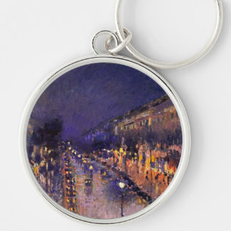Camille Pissarro The Boulevard Montmartre At Night Key Chain