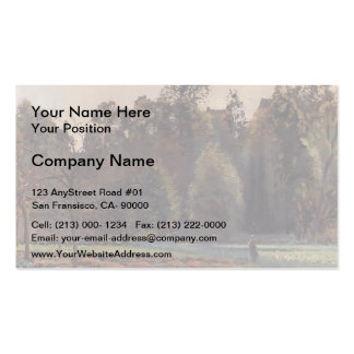 Camille Pissarro- The Cabbage Field, Pontoise Business Cards