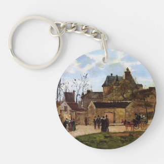 Camille Pissarro- The Court House, Pontoise Keychain