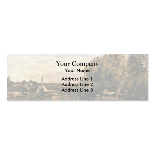 Camille Pissarro- The froggybog at Bougival Business Card Template