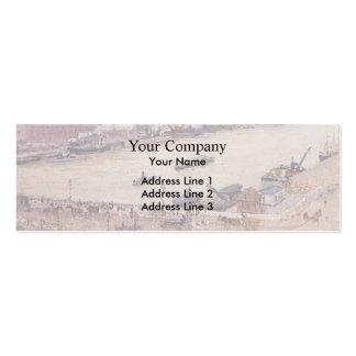 Camille Pissarro- The Seine in Flood, Rouen Business Card Template