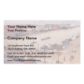 Camille Pissarro- The Seine in Flood, Rouen Business Card Templates