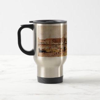 Camille Pissarro- Unloading Wood at Rouen Coffee Mug