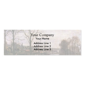 Camille Pissarro- Wash House at Bougival Pack Of Skinny Business Cards