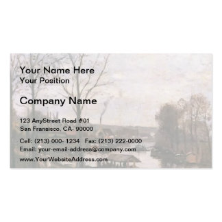 Camille Pissarro- Wash House at Bougival Pack Of Standard Business Cards