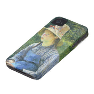 Camille Pissarro- Young Peasant Girl Wearing a Hat iPhone 4 Cover