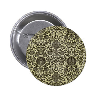 Camille Vintage Wall Paper Pinback Button