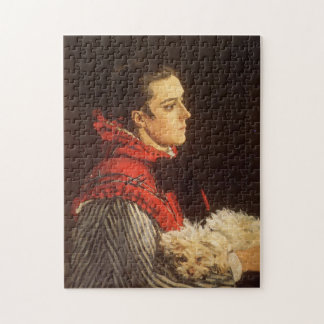 Camille with Small Dog Monet Fine Art Jigsaw Puzzle