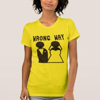 Caminho errado camisetas
