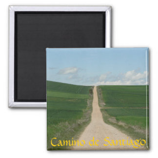 Camino de Santiago Square Magnet