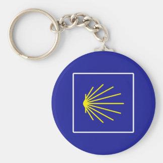 Camino de Santiago Sign, Spain Basic Round Button Key Ring