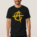 Camiseta Negra - Logotipo Anarquista - Capitalista Tshirt