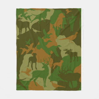 Cammo/camoflauge /odee/deer/phesant/moose/elk/dog fleece blanket