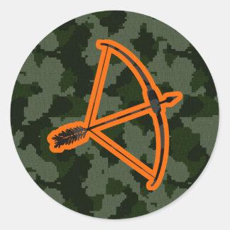 Camo Archery Classic Round Sticker