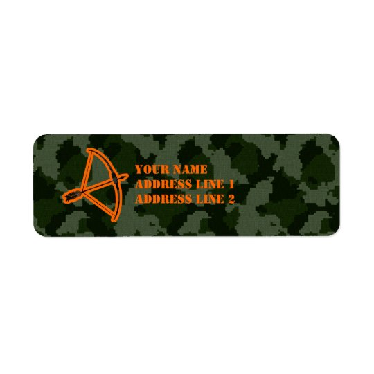 Camo Archery Return Address Label