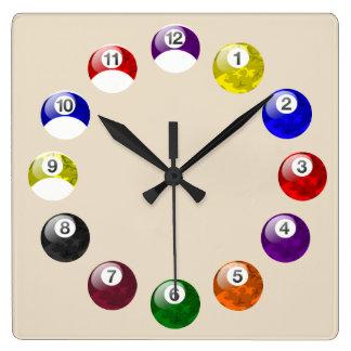 Camo Ball Tan Felt Pool Clock