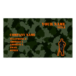 Camo Baseball Pack Of Standard Business Cards