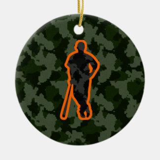 Camo Baseball Christmas Ornament