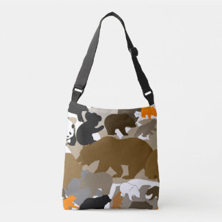 camo bear crossbody bag