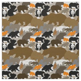 camo bear fabric