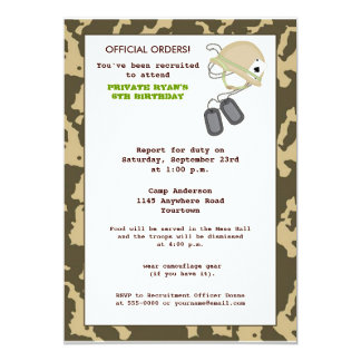 Camo Birthday Invite