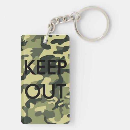 Camo Black Letter Funny Acrylic Keychains