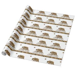 Camo California Bear Wrapping Paper