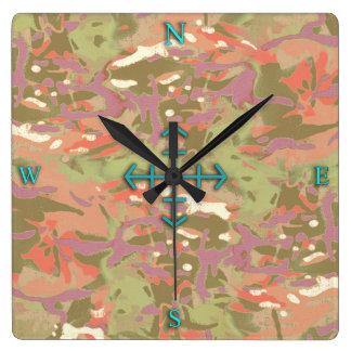 Camo Camo, look at me! Square Wall Clock
