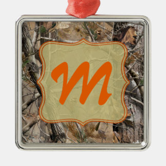 Camo Camouflage Hunting Monogram Initial Ornament