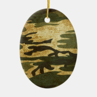 Camo Ceramic Oval Decoration