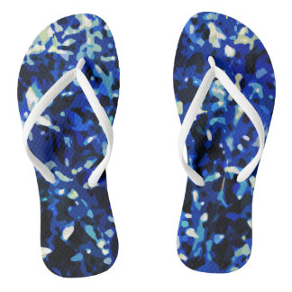 Camo Color Abstract Pattern Flip Flops