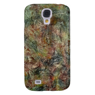 Camo Colored Frosted Autumn Abstract Galaxy S4 Case