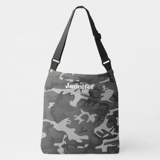 Camo Cross Body Bag, Large Crossbody Bag