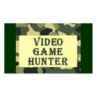 Camo Design Video Game Business Card