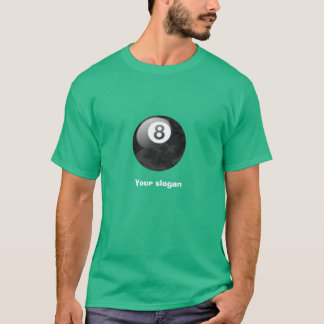 Camo Edition Eight Ball Tee with Slogan