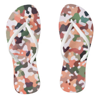 Camo Fall Colors Flip Flops