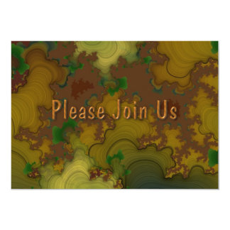 Camo Fractal Wedding Invitation