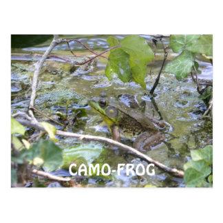 Camo-Frog! Green Camo Frog Postcard