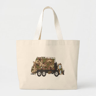 Camo Garbage Truck Military Large Tote Bag