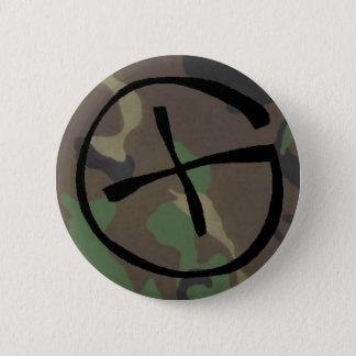 camo, Geocaching 6 Cm Round Badge